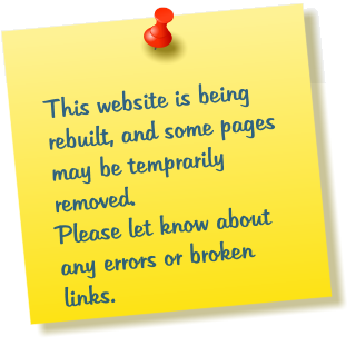 This website is being rebuilt, and some pages may be temprarily removed.  Please let know about any errors or broken links.
